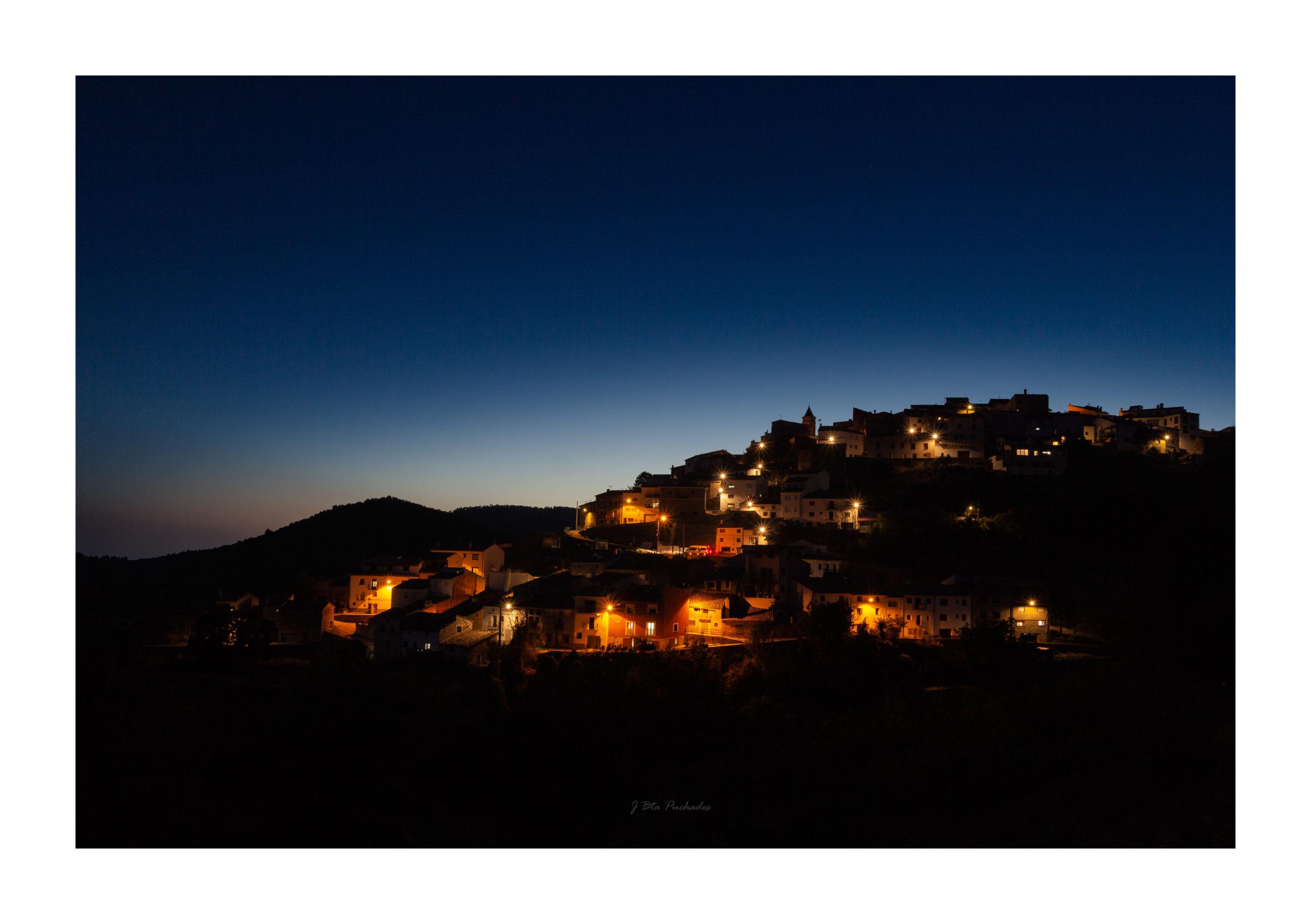 Time Blending al poble de Torrijas deixant que la nit m´envolte.te